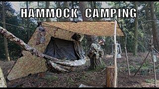 Winter Hammock Camping Setup