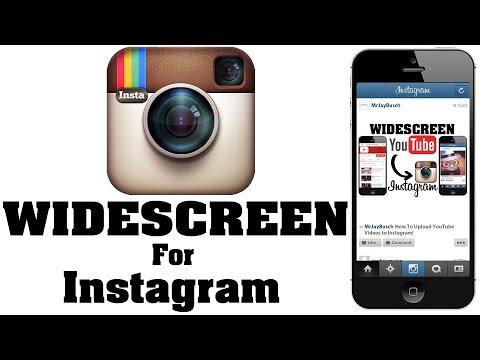 How To Post WIDESCREEN Video To Instagram - NO CROP