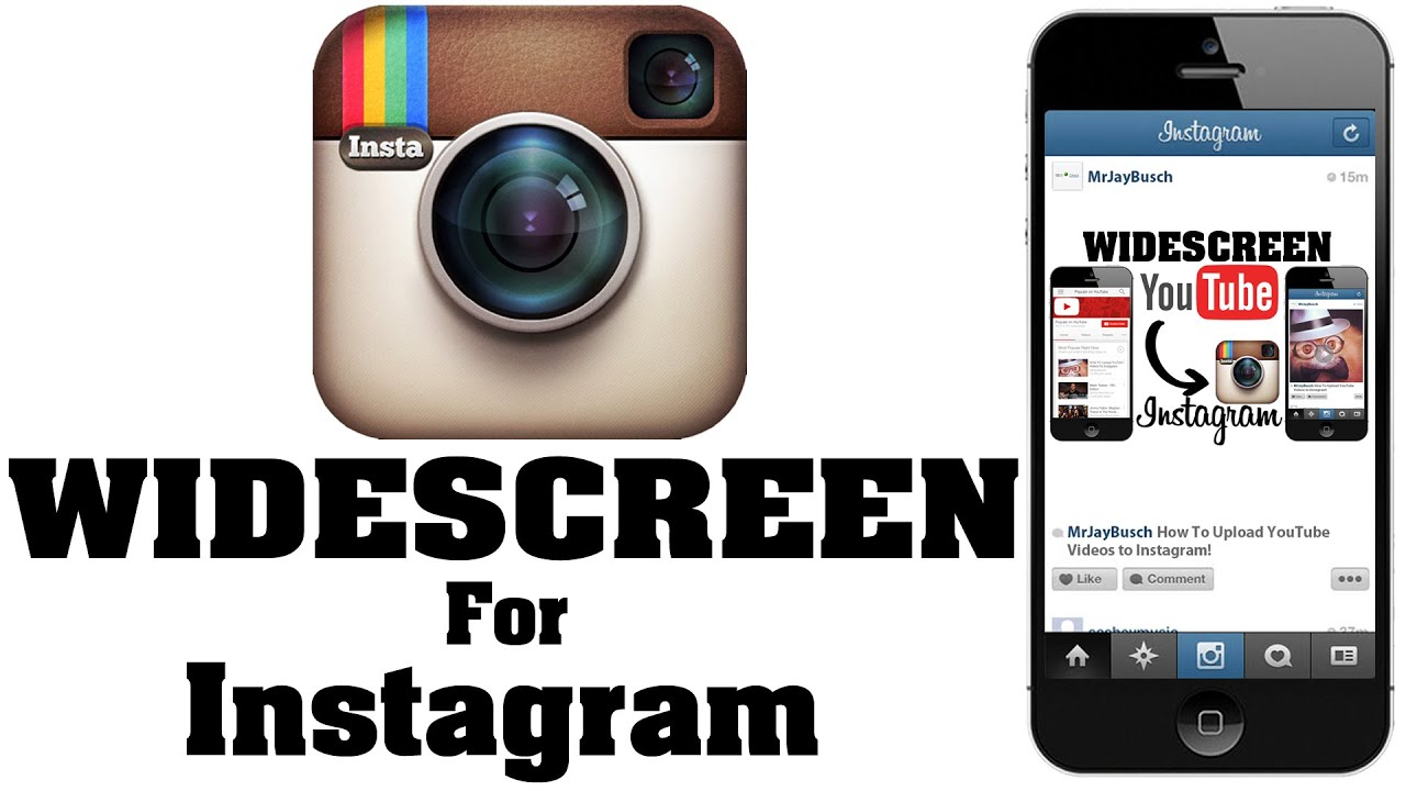 How To Post WIDESCREEN Video To Instagram - NO CROP - YouTube