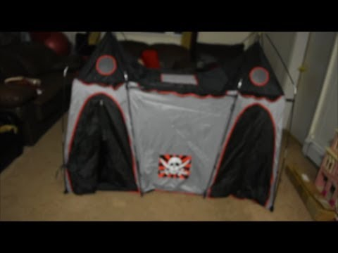 How to set up a Pirate Hide-Away Play Tent & How to set up a Pirate Hide-Away Play Tent - YouTube