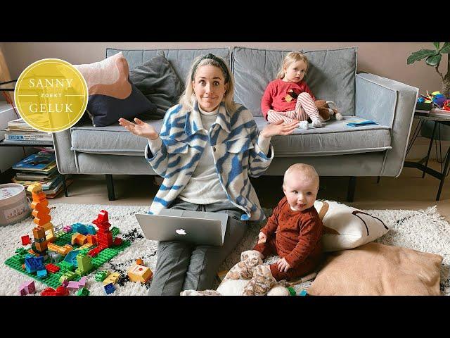 Productief thuiswerken zonder gek te worden! Beste 6 tips! Sanny zoekt Geluk