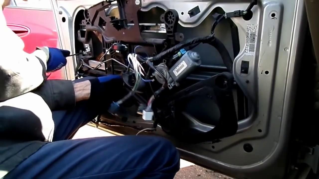 Chevrolet Malibu Window Motor Regulator Removal