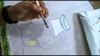 Como pintar vidro passo a passo – Transparência com suco – Ariane Cerveira