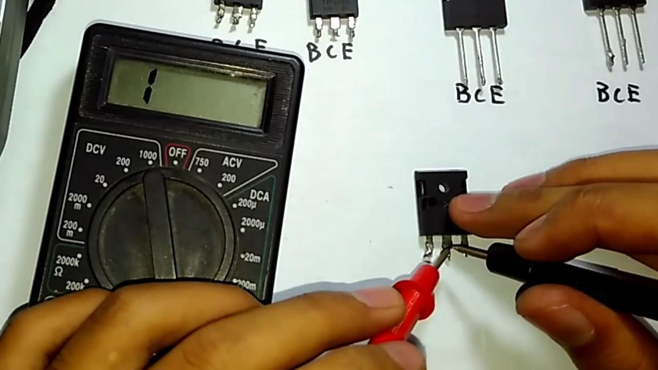 Cara Cek Transistor Youtube Multitester Multimeter Avometer Dt 830 B