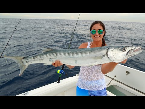 Offshore Fishing With LIVE Bait!! CATCH And COOK Baked Kingfish!