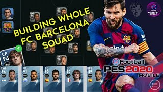 Building full fc barcelona squad in efootball pes 2020 mobile builder myclub #efootballpes2020mobile #pes2020mobile #pes20...