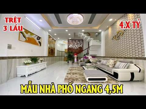 NHÀ ĐẸP GÒ VẤP 4 TỶ| Mẫu nhà phố ngan g 4,5m đúc 4 tấm  nhà đẹp hẻm rộng giá rẻ