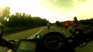 Motorcycle crash 136mph / 219kmh Honda