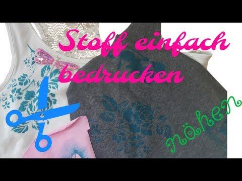 Super DIY ✿ Stoff bemalen ✿ Ohne teure Farben ✿ Stoff bedrucken IM53