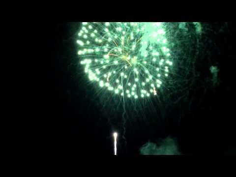 2014 New Year's  Fireworks - Camana Bay, Grand Cayman