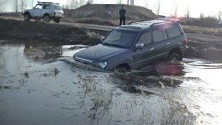 Lexus LX 470, Land Cruiser 100, Lada 4x4, Suzuki Escudo. Утопили немного Эскудика...