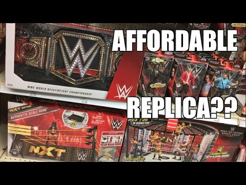 NEW WWE CHAMPIONSHIP REPLICA BELT AT TRU! AFFORDABLE EXCLUSIVE BOUGHT UNBOXED AND REVIEWED!