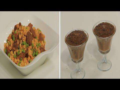 مكرونة باللحمة - تارت خضار - بصارة - ارز باللبن و الشيكولاتة : على قد الأيد حلقة كاملة