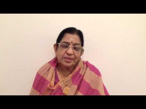 Dr P. Susheela gari - LATA Sangeetha Lahari