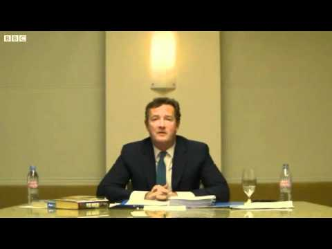 Leveson Inquiry: Piers Morgan Gets A Spanking