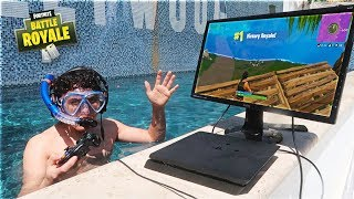 Download This 15 Year Old Kid Won A Game Of Fortnite Underwater In a Pool Mp3 and Videos