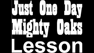 Mighty Oaks - Just One Day (Acoustic Lesson)+Tabs