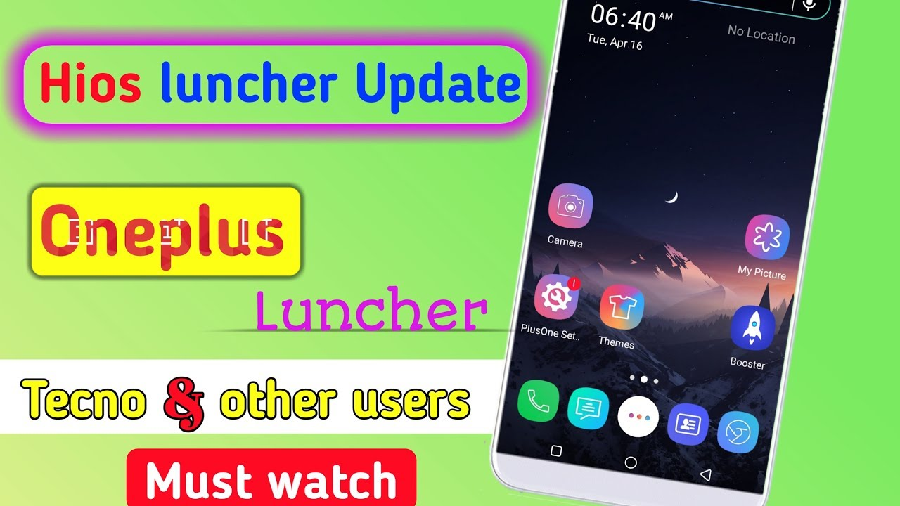 Tecno phones Hios luncher update in oneplus luncher || give interesting  look || by bk facts