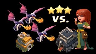 TH7 vs TH9 3 star attack in clan wars!