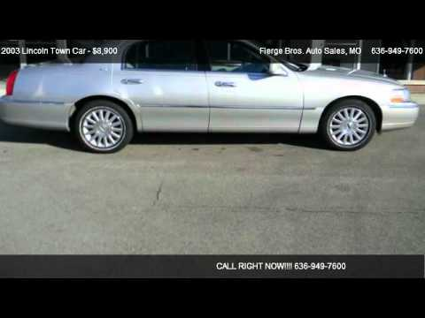 2003 Lincoln Town Car Signature For Sale In St Charles Mo 63301