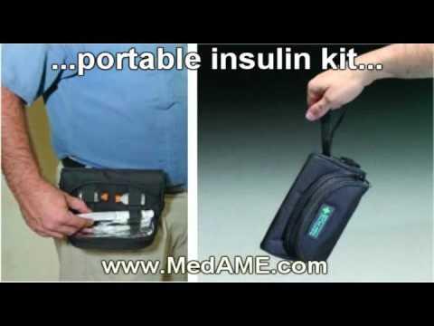 Diabetic Testing Supply Travel Case