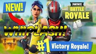 Fortnite Battle Royale - **WHIPLASH SKIN** - SKIDDIN ON EM!!