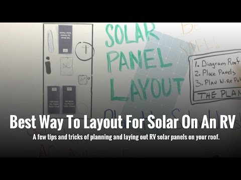 How to layout solar panels on your RV Roof