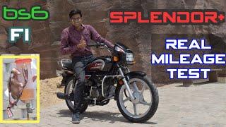 Fi Splendor+ Bs6 Real mileage test