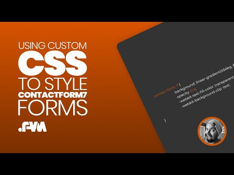 How To Add Custom CSS To Contact Form 7 In WordPress