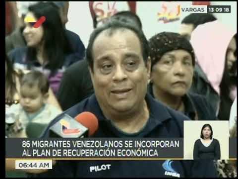86 venezolanos que habían emigrado a Argentina retornaron a su país