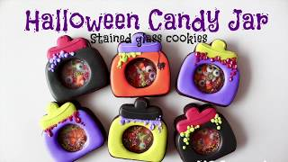 Halloween Candy jar stained glass cookies◇ ◇ハロウィンキャディージ...