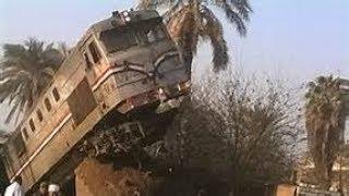 لحظة حادث قطار الاسكندرية بمحطة البدرشين