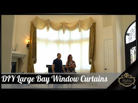 DIY Large Bay Window Curtains | Galaxy Design Video #190