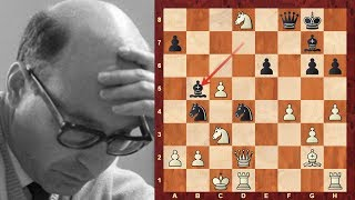 """The Immortal Losing Game"" - Brief commentary #56 - Bogdan Sliwa vs David Bronstein - 1957 - Amazing"