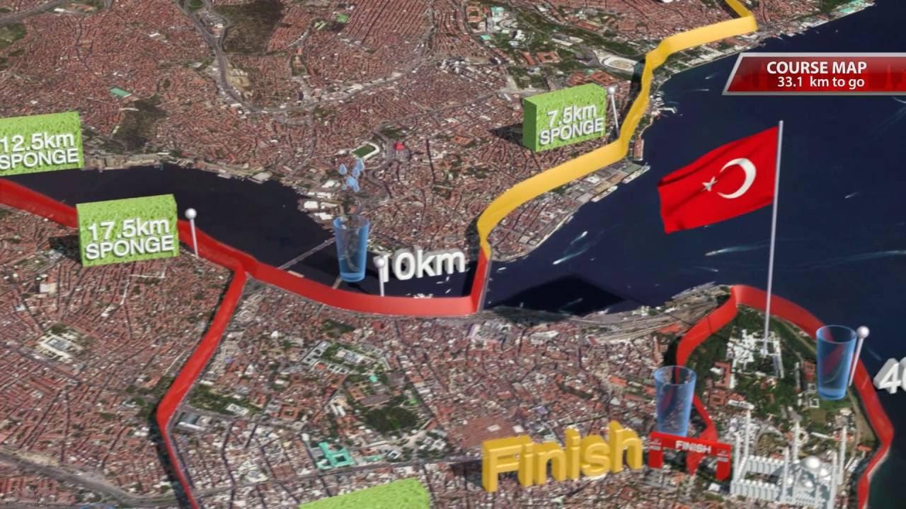 Istanbul Marathon Map 2016 YouTube