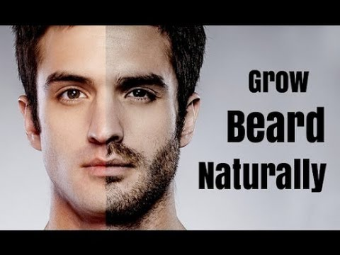 Stimulate facial hair growth naturally