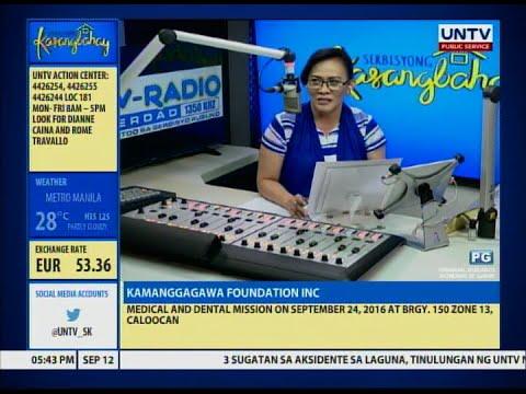 UNTV: Serbisyong Kasangbahay (September 12, 2016)