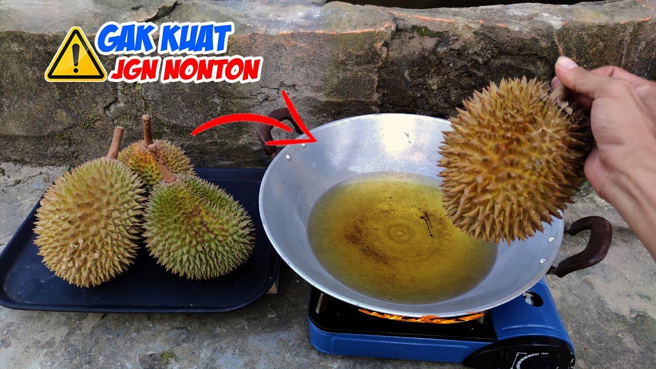 EKSPERIMEN: Goreng Durian, Daun Singkong, Daun Sirih & Bunga Ekor Kucing (Fried Experiment)