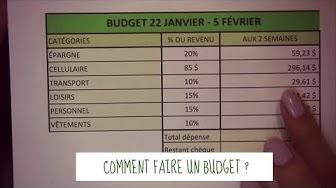 Comment faire un budget ? (Fichier Excel)