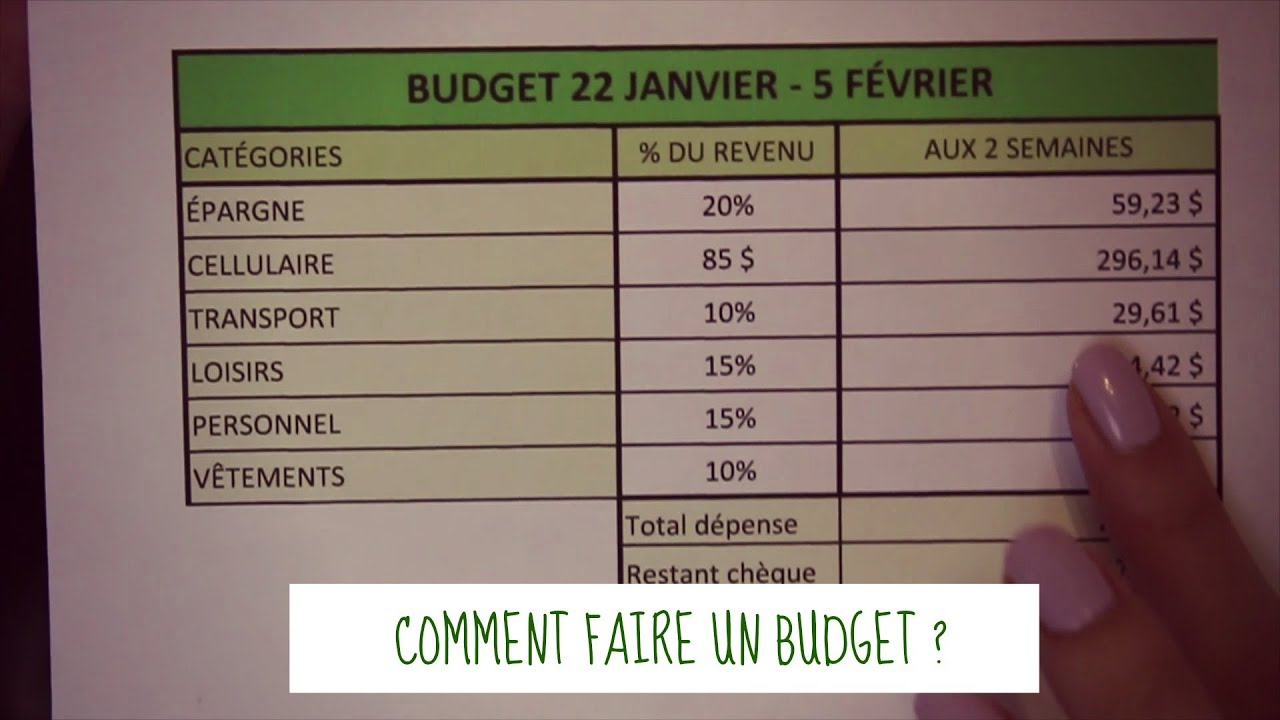 Comment faire un budget fichier excel youtube - Comment avoir un avocat commis d office ...