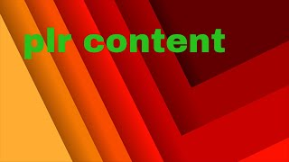 How to make money with plr content?  repurpose plr to create totally new unique content