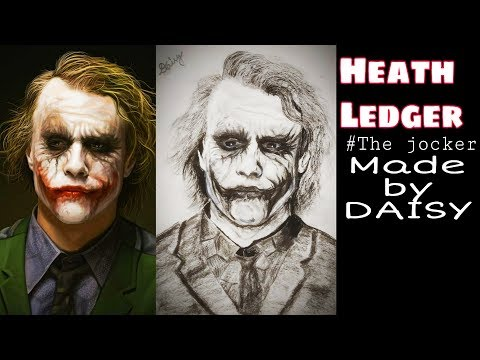 Heath Ledger Pencil Sketch |  by Daisy | The Joker Sketch tutorial thumbnail