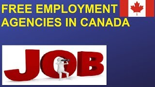 Free Employment Agencies in Canada || Job assistance Canada || Resume Building and Mock interviews