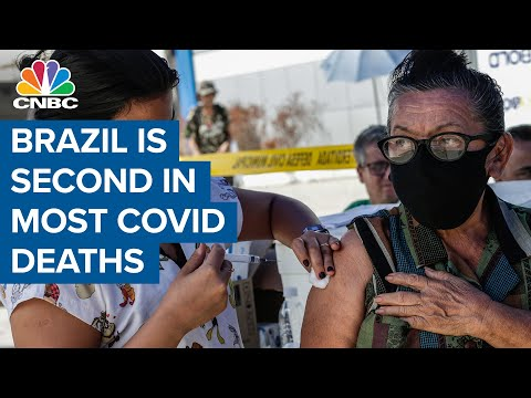 Brazil has the second most Covid-19 deaths behind U.S.