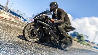 AMAZING MOTORBIKE STUNT! - (GTA 5 Stunts & Fails)