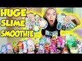 MIXING ALL MY STORE BOUGHT SLIMES!! GIANT SLIME SMOOTHIE! SATISFYING SLIME | NICOLE SKYES