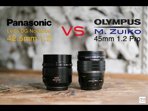 RED35 Comparison: Olympus 45mm 1.2 Pro VS Panasonic Leica DG Nocticron 42.5mm 1.2