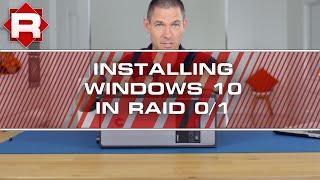how to install windows 10 on raid 0 1 sm951 950 pro pcie m 2 ssd s