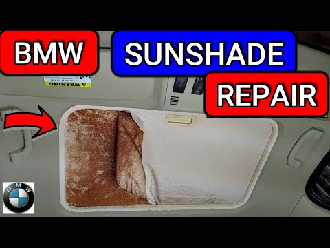 BMW Sunroof Sunshade Repair!! | E90 E91 E92 E82 | 3 Series 1 Series
