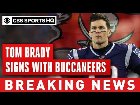 Tom Brady officially signs with Buccaneers for a reported 2 year deal | CBS Sports HQ